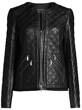 Lafayette 148 New York Women's Tanner Leather Quilted Jacket