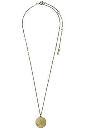Pilgrim Virgo Gold Star-Sign-Necklace