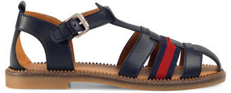 Children's leather sandal with Web $380 thestylecure.com