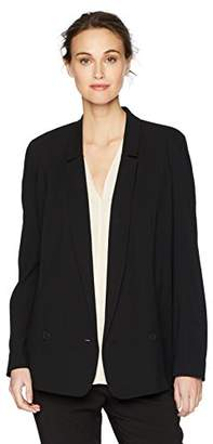 Halston Women's Sleeve Long Color Blocked Blazer