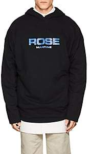 "Martine Rose Men's ""Rose Martine"" Cotton Oversized Hoodie-Black"