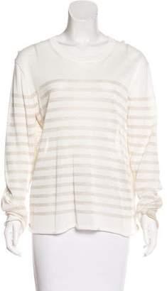 Tory Burch Metallic Striped Sweater
