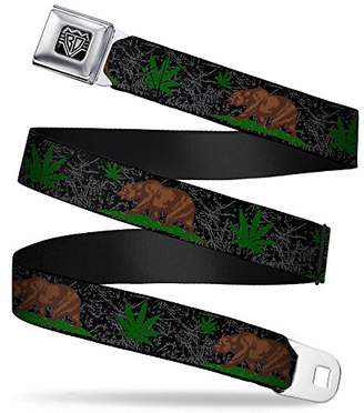 BUCKLE-DOWN INC. Unisex-Adults Buckle-Down Seatbelt Belt California Regular