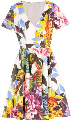 Blugirl Dress S/s Flared Tropical Printing