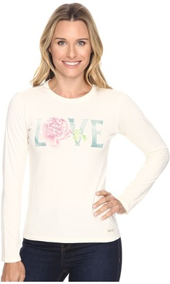 Life is good Love Rose Long Sleeve Crusher Tee $30 thestylecure.com
