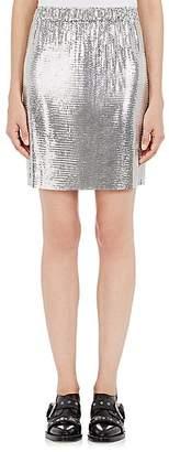 Paco Rabanne Women's Metal Mesh Skirt - Silver