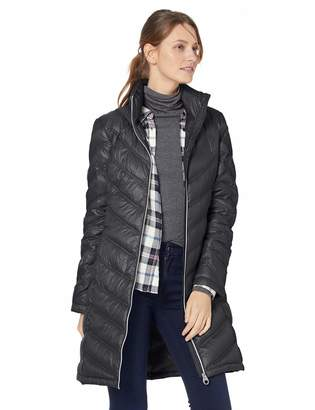 Calvin Klein Women's Chevron Packable Down Coat, Medium
