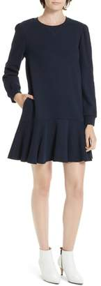 Rebecca Taylor Long Sleeve Fleece Mini Dress