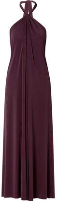 Eres Poker Tricheuse Stretch-jersey Halterneck Maxi Dress - Grape