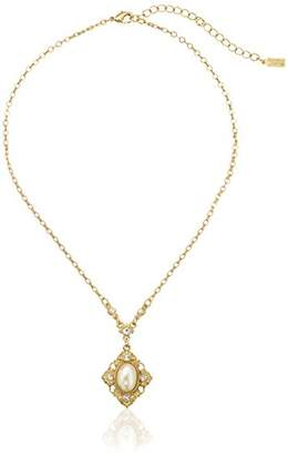 Downton Abbey Gold-Tone Pearl Crystal Pendant Necklace