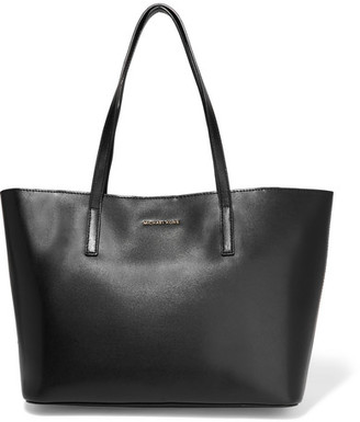 MICHAEL Michael Kors - Emry Medium Leather Tote - Black $298 thestylecure.com