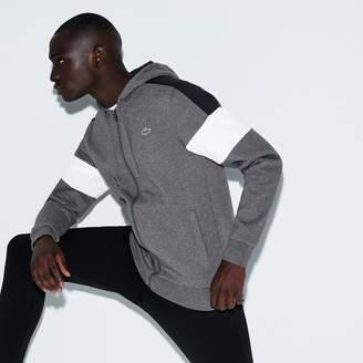 Lacoste Men's SPORT Colorblock Fleece Zippered Tennis Sweatshirt
