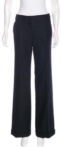 Burberry  Burberry London Mid-Rise Wide-Leg Pants