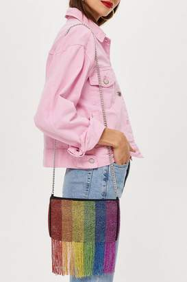 Topshop Rainbow Beaded Cross Body Bag