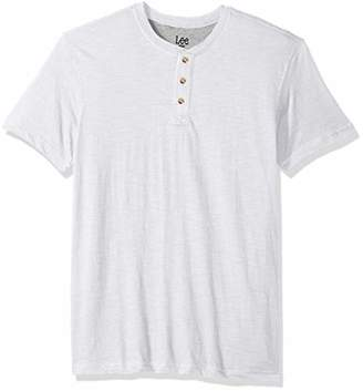 Lee Men's Short Sleeve Henley Shirt