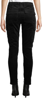 Vince Mid-Rise Skinny Corduroy Cargo Pants