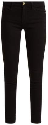 Frame - Le High Mid Rise Skinny Jeans - Womens - Black