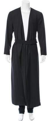 Fabrics Interseason Shawl Collar Belted Coat