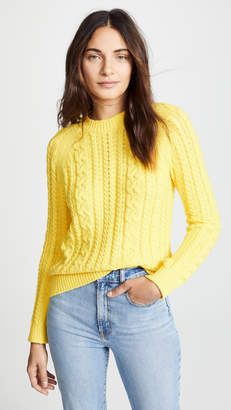 Yellow Cable Knit Sweater - ShopStyle a38de8645