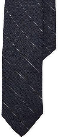 Polo Ralph LaurenPolo Ralph Lauren Striped Silk-Linen Narrow Tie