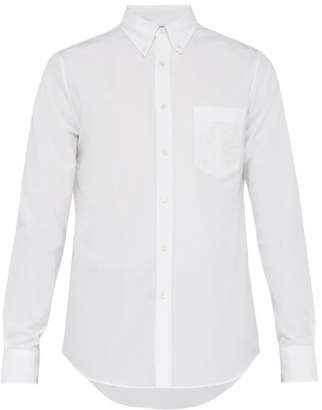 Alexander McQueen Logo Embroidered Cotton Shirt - Mens - White