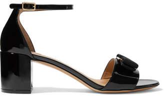 Salvatore Ferragamo Gavina Patent-leather Sandals - Black