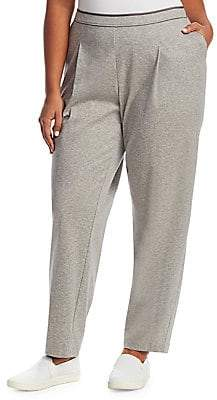 Lafayette 148 New York Lafayette 148 New York, Plus Size Lafayette 148 New York, Plus Size Women's Cotton Ponti Jersey Soho Track Pants