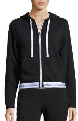 Calvin Klein Underwear Lounge Long Sleeve Hoodie $72 thestylecure.com