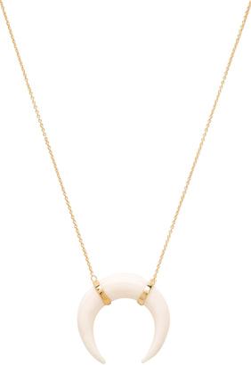 Jacquie Aiche Bone Pendant Crescent Necklace $220 thestylecure.com