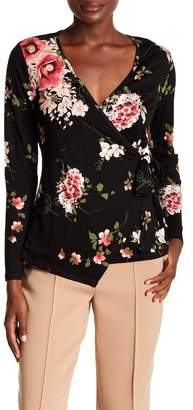 Bobeau Floral Faux Wrap Top