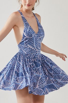 Kimchi Blue Printed Fit + Flare Romper $69 thestylecure.com