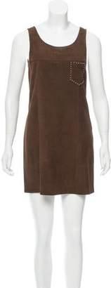 Saint Laurent Suede Mini Dress