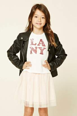 Forever 21 Girls LA NY Graphic Tee (Kids)