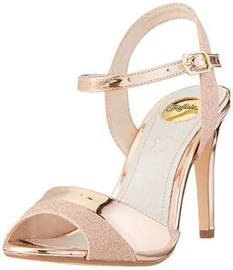 Buffalo David Bitton Women's Aida Ankle Strap Sandals, (Rose Gold 000)
