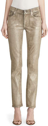 Ralph Lauren Metallic Painted Skinny Jeans