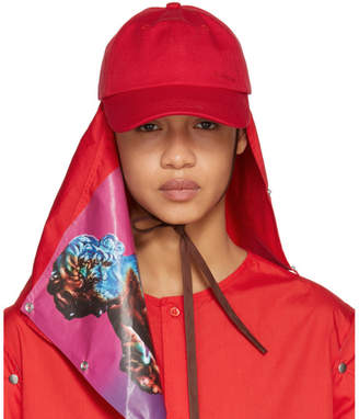 Raf Simons Red Joy Division Atmosphere Baseball Cap