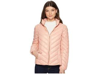 MICHAEL Michael Kors Zip Front Stand Collar Packable M823044F Women's Coat
