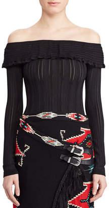 Ralph Lauren Knit Off-the-Shoulder Sweater
