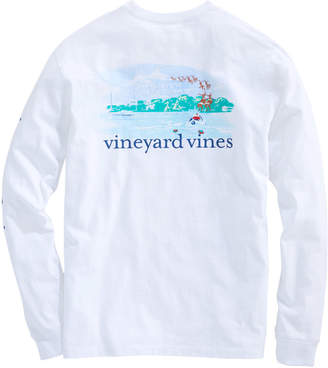 Vineyard Vines Long-Sleeve Santa's On His Way Pocket T-Shirt
