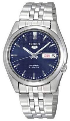 Seiko Men's SNK357 5 Automatic Dark Blue Dial Stainless Steel Watch