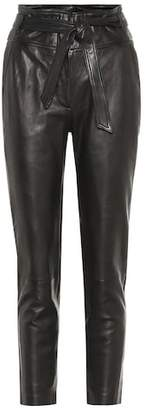 Veronica Beard Faxon high-rise leather pants