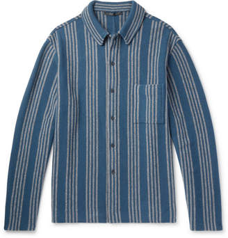Haider Ackermann Oversized Striped Wool And Cashmere-Blend Shirt