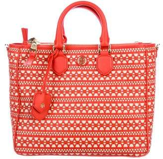 Tory Burch Woven Leather Satchel