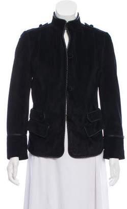 Saint Laurent Suede Stand Collar Jacket