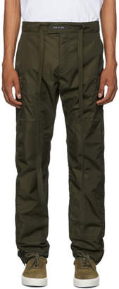 Fear Of God Green Nylon Snap Cargo Pants