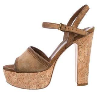 4ef5c7d6aba2 Pre-Owned at TheRealReal · Gucci Suede Platform Sandals