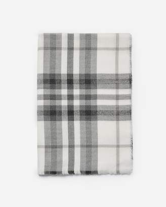 Express Soft Woven Plaid Scarf