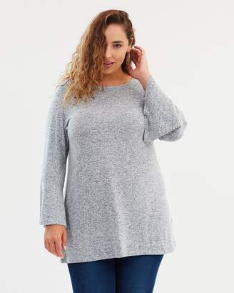 Flute Sleeve Soft Sweater