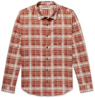 Outerknown Highline Checked Brushed Cotton And Linen-Blend Flannel Shirt