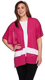 Tashon Slub Jersey Bold Stripe Open FrontCardigan
